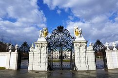 Enterence into Belvedere palace Royalty Free Stock Images