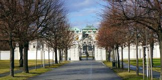 Enterence into Belvedere palace Royalty Free Stock Photos