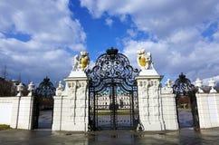 Enterence dans le palais de belvédère images libres de droits