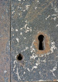 Enterence to a prison door key hole Royalty Free Stock Images