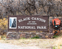 Entering the Black Canyon of the Gunnison Stock Image