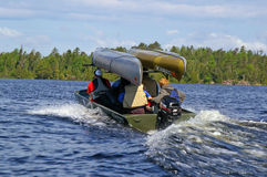 Entering the Boundary Waters Canoe Area on Lake Saganaga Stock Images