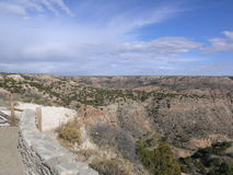 Entering Canyon. Scenic view of a canyon in Texas Royalty Free Stock Image