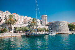 Entering the city of Korčula Royalty Free Stock Images