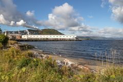 cornerbrook pulp and paper mill royalty free stock images