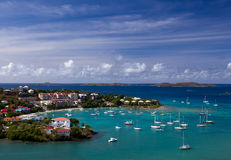 Entering Cruz Bay on St John stock photo