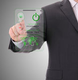 Secure data by touch screen Royalty Free Stock Photography