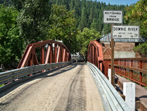Entering Downieville, California Stock Photos
