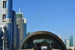Entering Dubai`s Metro Station royalty free stock images