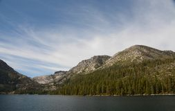Entering Emerald Bay in Lake Tahoe. A view of Emerald Bay in Lake Tahoe, California, from the lake stock photo