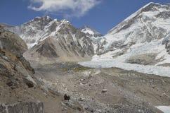 Entering Everest Base Came Stock Photo