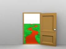 Entering Freedom vector illustration