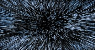 Entering hyperspace through dense starfield stock video footage