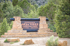 Entering Mesa Verde National Park, USA Royalty Free Stock Photo