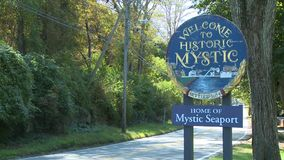 Entering Mystic (1 of 7) stock video footage