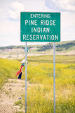 Entering Pine Ridge Indian Reservation Road Sign Royalty Free Stock Photo