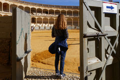 Entering the plaza de toros Royalty Free Stock Image