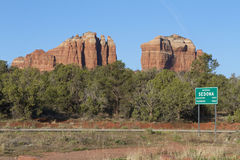 Entering Sedona arizona Stock Photography