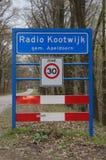 Entering sign Radio Kootwijk - Apeldoorn Stock Images