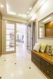 Entering a splendid contemporary villa Royalty Free Stock Images