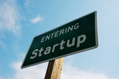 Entering Startup. Sign at the entrance of Startup city, Washington Royalty Free Stock Images