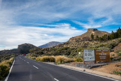 Entering to Teide Royalty Free Stock Images