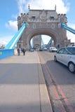 Entering Tower Bridge Stock Photography