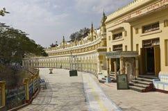 Entering the U Min Thonze Buddhist Temple On Sagaing Hill Stock Photo