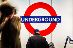 Entering the underground Stock Photography