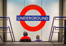 Entering the underground Royalty Free Stock Images