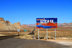 USA, Utah: Welcome Sign Royalty Free Stock Photos