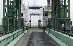 Getting on Vinalhaven Ferry in Maine stock photo