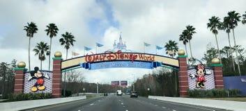 Entering Walt Disney World. The main entrance into Walt Disney World in Orlando, Florida Royalty Free Stock Photos