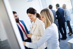 Business people conference in modern meeting room. Enterpreneurs and business people conference in modern meeting room stock images