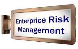 Enterprice Risk Management on billboard background. Enterprice Risk Management on wall light box billboard background , isolated on white Stock Photography