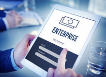 Enterprise Business Campaign Project Task Concept. Enterprise Business Campaign Project Task royalty free stock images