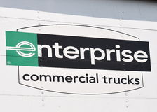 Enterprise Commercial Truck sign Royalty Free Stock Images