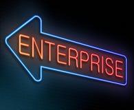 Enterprise concept. Illustration depicting an illuminated neon sign with an enterprise concept Stock Images