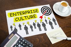 Enterprise culture concept on a paper royalty free stock photography