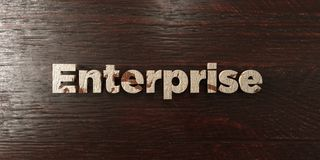 Enterprise - grungy wooden headline on Maple  - 3D rendered royalty free stock image. This image can be used for an online website banner ad or a print Stock Image