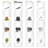 Enterprise, logger, ecology and other web icon in cartoon style.Wood, cutting, woodworking icons in set collection. Enterprise, logger, ecology and other  icon Stock Image