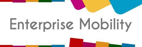 Enterprise Mobility Abstract Colorful Stripes. Enterprise mobility text written over colorful background Stock Photos