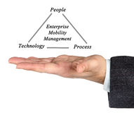 Enterprise Mobility Management. Presenting diagram of Enterprise Mobility Management Stock Images