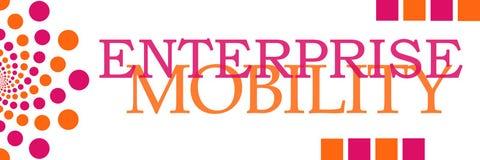 Enterprise Mobility Pink Orange Dots Horizontal. Enterprise mobility text written over pink orange background Stock Photography