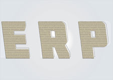 Enterprise Resource Planning. Concept words Stock Image
