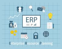 Enterprise resource planning Royalty Free Stock Photos
