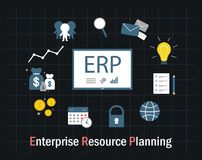 Enterprise resource planning Royalty Free Stock Image
