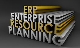Enterprise Resource Planning ERP Royalty Free Stock Photography