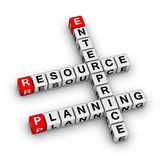 Enterprise Resource Planning (ERP). Crossword puzzle Royalty Free Stock Images
