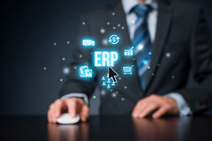 Enterprise resource planning ERP Stock Images